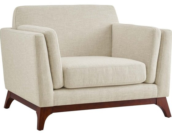 Chance Upholstered Fabric Armchair Beige