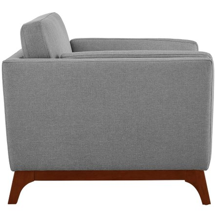 Chance Upholstered Fabric Armchair Light Gray