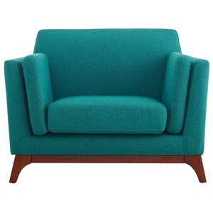 Chance Upholstered Fabric Armchair Teal