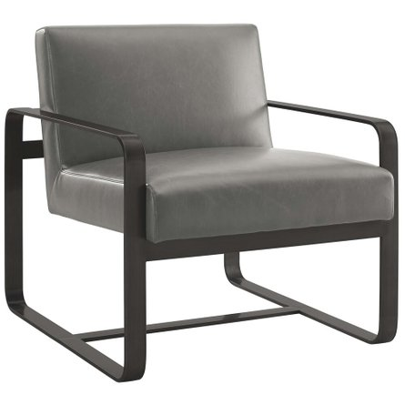 Astute Faux Leather Armchair Gray