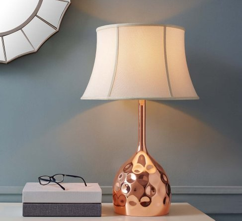 Dimple Table Lamp Rose Gold