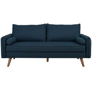 Revive Upholstered Fabric Sofa Azure