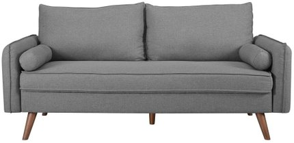 Revive Upholstered Fabric Sofa Light Gray