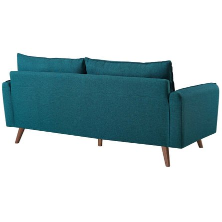 Revive Upholstered Fabric Sofa Teal