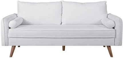 Revive Upholstered Fabric Sofa White