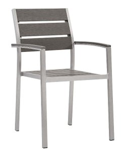 Shore Dining Chair Silver & Gray