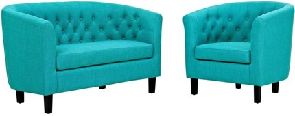 Prospect Upholstered Loveseat And Armchair Set Pure Water