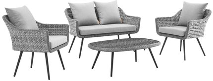 Endeavor 4 Piece Outdoor Set Gray