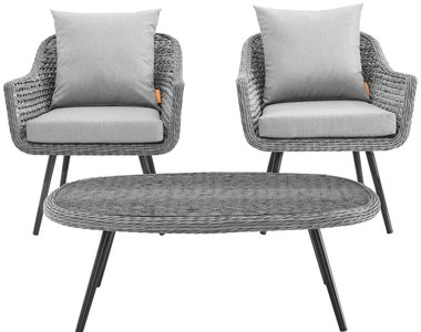 Endeavor 3 Piece Outdoor Set Gray