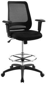 Forge Mesh Drafting Chair Black