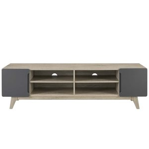 "Tread 70"" Media Console TV Stand Natural Gray"