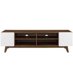 "Tread 70"" Media Console TV Stand Walnut And White"