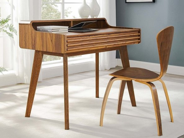 Render Writing Desk Walnut