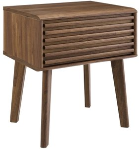 Render Nightstand Walnut