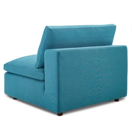 Commix Down Filled Overstuffed Sectional Sofa Set Teal