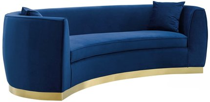 Resolute Sofa Navy & Gold
