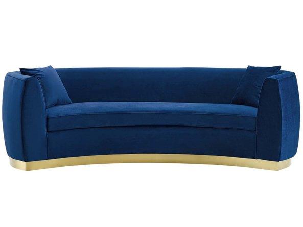 Resolute Sofa Navy & Gold