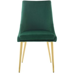 Viscount Modway Accent Performance Velvet Dining Chair Green