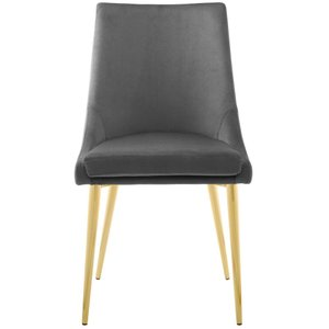Viscount Modway Accent Performance Velvet Dining Chair Gray
