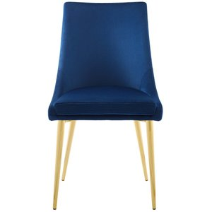 Viscount Modway Accent Performance Velvet Dining Chair Navy