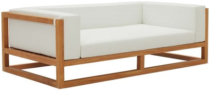 Newbury Outdoor Sofa Natural & White