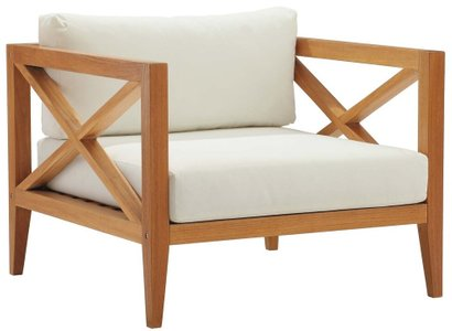 Northlake Outdoor Armchair Natural & White