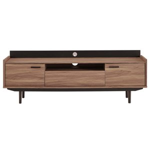 "Visionary 71"" TV Stand Walnut And Black"