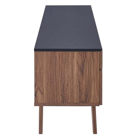 "Scope 71"" TV Stand Walnut And Gray"