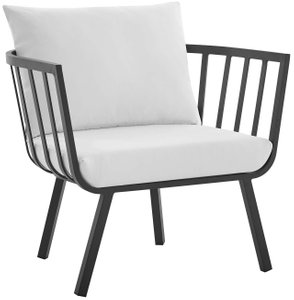 Riverside Outdoor Armchair Gray & White