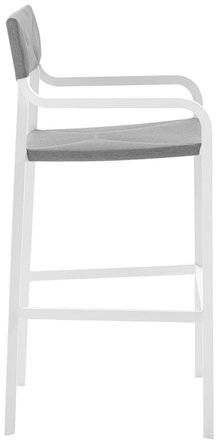 Raleigh Stackable Outdoor Bar Stool White & Gray