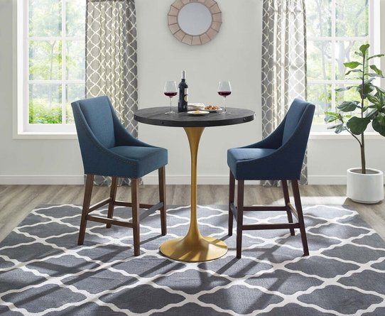 Drive Wood Bar Table Black And Gold