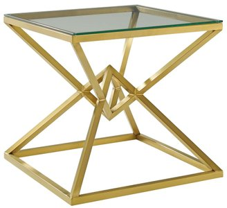 "Point 25.5"" Side Table Gold"