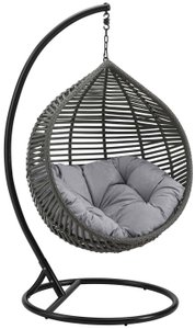 Garner Teardrop Outdoor Swing Chair Gray