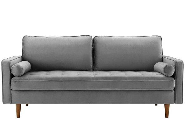 Valour Performance Velvet Sofa Gray