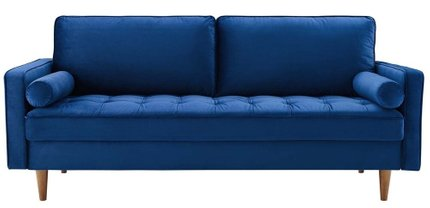 Valour Performance Velvet Sofa Navy