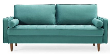 Valour Performance Velvet Sofa Teal