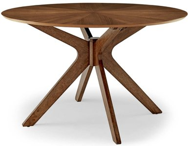 "Crossroads 47"" Round Dining Table Walnut"