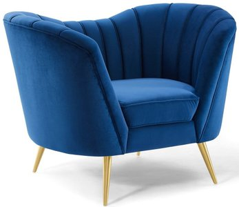 Opportunity Armchair Navy & Gold