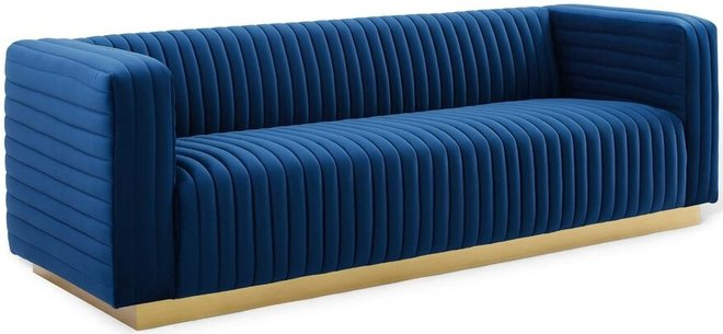 Charisma Sofa Navy & Gold