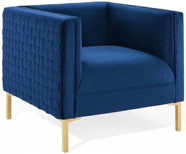 Resonate Armchair Navy & Gold