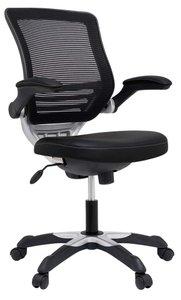 Edge Vinyl Office Chair Black