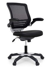 Edge Vinyl Office Chair Black