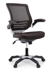Edge Vinyl Office Chair Brown