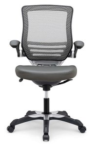 Edge Vinyl Office Chair Gray