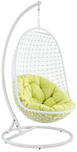Encounter Swing Outdoor Lounge Chair White