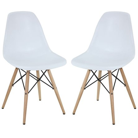 Pyramid Dining Side Chairs White (Set Of 2)