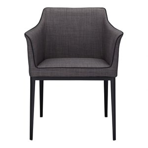 Lotus Arm Chair Dark Gray And Black
