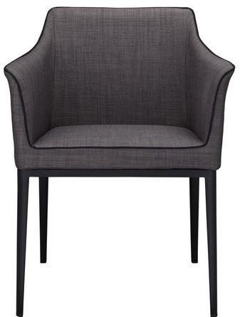 Lotus Arm Chair Dark Gray And Black