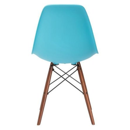 Buran Dining Chair Walnut Base Aqua