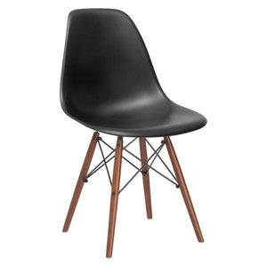 Buran Dining Chair Walnut Base Black